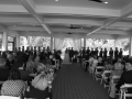Black and White Photo of Wedding Ceremony