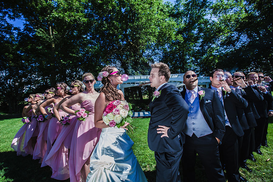 Bridal Party - Glasses and Cigars